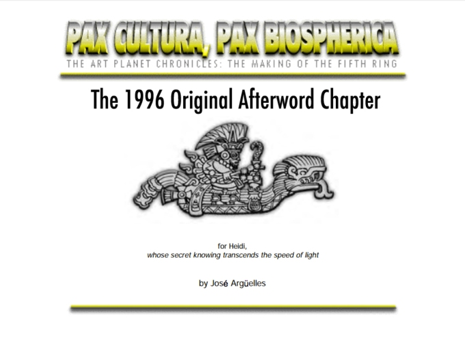 Afterwords The Art Planet Chronicles