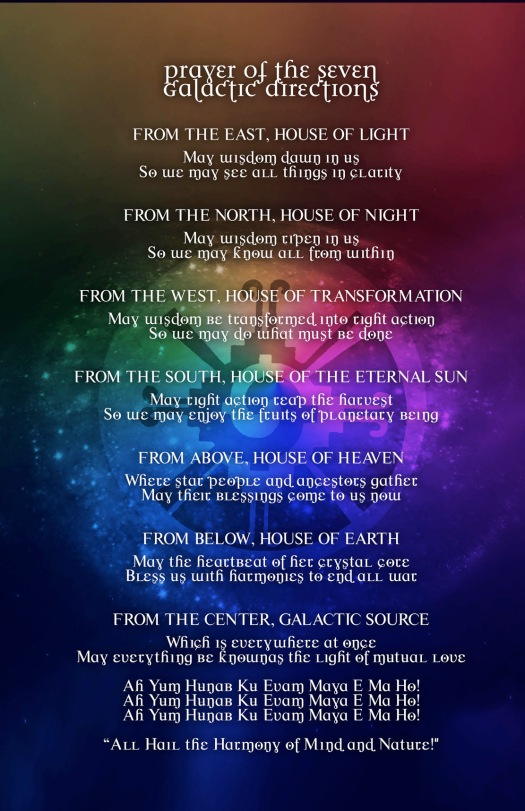 Prayer Seven Galactic Directions WP