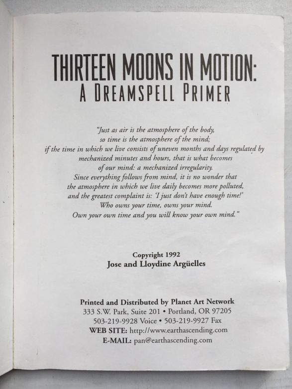 13 Moons in Motion - Inside Cover