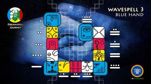 Blue Hand Wavespell / Onda Encantada de la Mano Azul