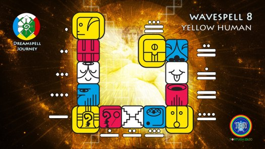 Yellow Human Wavespell / Onda Encantada del Humano Amarillo