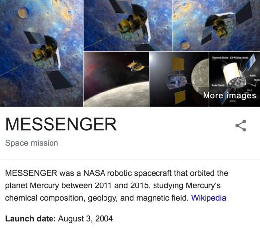 Messenger-Probe-Mercury